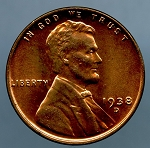 1938 D Lincoln Cent MS 64