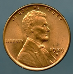 1939 D Lincoln Cent MS 63