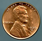 1939 S Lincoln Cent MS 60