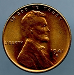 1941 S Lincoln Cent MS 65