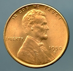 1950 S Lincoln Cent Choice MS-65