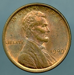 1909 Lincoln Cent MS 60 Brown