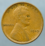 1910 Lincoln Cent XF-45