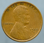 1910 S Lincoln Cent VF-20