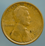 1910 S Lincoln Cent Very Good