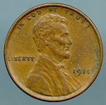1911 Lincoln Cent Choice XF-45