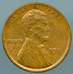 1911 Lincoln Cent XF 45
