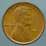 1912 Lincoln Cent XF-45