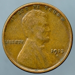 1913 S Lincoln Cent VF-20+