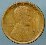 1914 S Lincoln Cent Very Good