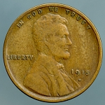 1915 D Lincoln Cent VF 20