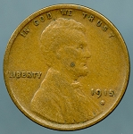 1915 S Lincoln Cent VF-20