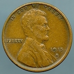 1915 S Lincoln Cent XF details very light rim dings