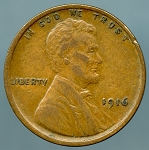 1916 Lincoln Cent XF-40