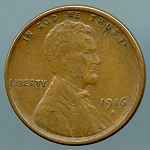 1916 S Lincoln Cent XF-40