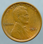1918 Lincoln Cent XF-45