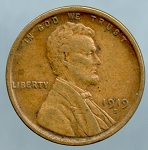 1919 S Lincoln Cent XF-40