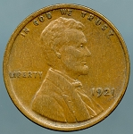 1921 Lincoln Cent XF-40