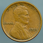 1921 Lincoln Cent Choice XF-45