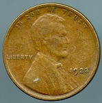 1923 S Lincoln Cent VF 20