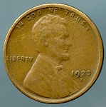 1923 S Lincoln Cent XF 40