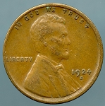 1924 S Lincoln Cent XF 45