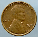 1924 S Lincoln Cent Choice XF-45 Small spots obv. and rev.