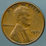 1926 S Lincoln Cent Choice XF-45