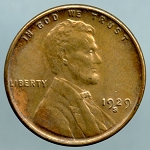 1929 S Lincoln Cent B.U. MS60 Light discoloration