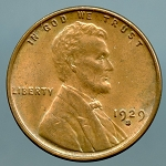 1929-S Lincoln Cent MS-60 Plus