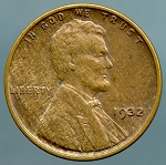 1932 Lincoln Cent Choice XF-45