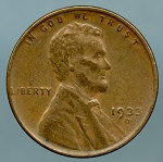 1933 D Lincoln Cent XF-40