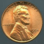 1954 D Lincoln Cent MS-65