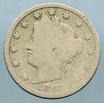 1883 With Cent Liberty Nickel Good