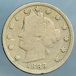 1883 With Cents Liberty Nickel Very Good