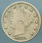 1885 Liberty Nickel Almost Fine