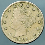 1885 Liberty Nickel Fine