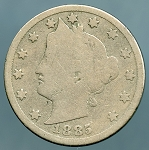 1885 Liberty Nickel Good