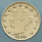 1896 Liberty Nickel Fine