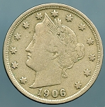 1906 Liberty Nickel VF-20