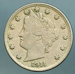 1911 Liberty Nickel VF-20
