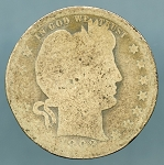 1892-O Barber Quarter Poor