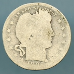 1892-S Barber Quarter Poor