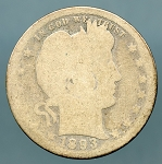 1893-S Barber Quarter Poor