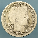 1895 Barber Quarter Good