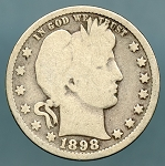 1898 Barber Quarter Good