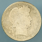 1906 O Barber Quarter AG