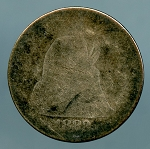 1883 Seated Dime CULL