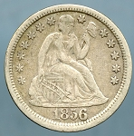 1856 Seated Dime Choice VF-35 Large Date