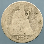 1876 Liberty Seated Dime About Good
